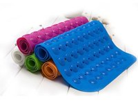 Wholesale Bath Mats Antislip Massage Mats Colorful Bathroom Pierced PVC Plastic Safe Pad with Suction Cups LLFA
