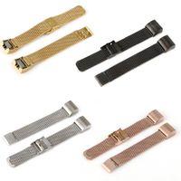 metallband armbänder großhandel-Neueste langlebige und elegante Milanese-Schleifen-Edelstahl-Metalluhrenarmband-Bügel-Armband für Armband Fitbit Charge 2