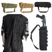 Wholesale Molle Shoulder Sling Bag - 49CM 19 inch Hunter Shotgun Scabbard Tactical 600D Nylon Backpack Paintball Bag Tactical Shoulder Sling MOLLE Airsoft Bags