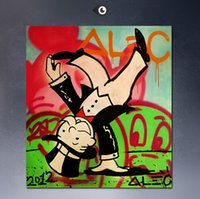 Wholesale Pop Look - down looking Alec monopoly wall street arts canvas paint POP ART Giclee poster paint on canvas for wall decoration painting