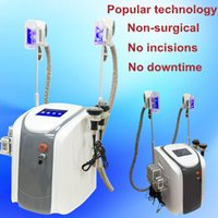 Wholesale Lipolaser Ce - 2 cryo handles work at same time cavitation rf equipment cryolipolysis Vacuum cellulite reduction lipolaser slimming cryotherapy weight loss