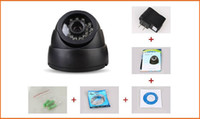 black box cctv - CCTV Camera HD Infrared Surveillance Camera TVL Leds IR Night Vision Security Dome Camera support TF card black white with retail box