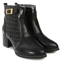 Atacado-Primavera Inverno Autumn High Heels Botas Ankle Casual Mulheres Sapatos Moda Mulher Zipper Soft Leather Waterproof Inicial Bota Booties