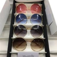 schmetterling geformte brille großhandel-Neue Sonnenbrille Sterne Gläser mit der gleichen Absatz Schmetterling Form große runde Rahmen Sonnenbrille CE114S eine Vielzahl von Farben