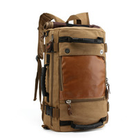 Wholesale Large Canvas For Cheap - Personality Large Size Round Canvas Mens Travel Bag Fashion Rolling Travel Backpack For Man Cheap Price