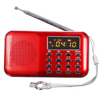 Wholesale Home Radio Stereo - Wholesale-Portable Pocket Outdoor and Home Diy Kit Stereo USB radio fm am Vintage Mp3 Player Dab With Charging Indicator And Led Light