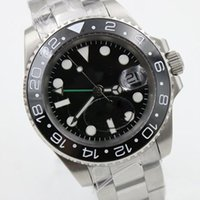Wholesale Mens Automatic Gmt - Luxury Brand Mens Watch GMT 116710 series of high quality ceramic bezel luxury men's automatic mechanical business watches