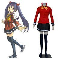 Wholesale Wendy Marvell Cosplay - Fairy Tail Wendy Marvell outfit cosplay costumes