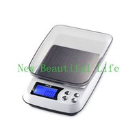 Wholesale Postal Scale Digital Shipping - 3000gx0.1g LCD Digital Kitchen Scale Table Electronic Postal Balance Weight Household Counting Scales Free Shipping