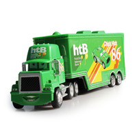 Wholesale Cars Toys 86 Truck - Pixar Cars 2 Chick Hick NO.86 Mack Superliner Truck 1:55 Diecast Metal Kids Boy Toy Lightning McQueen Alloy Car Model Toy
