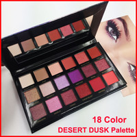 Wholesale matte shimmer - New Eye shadow Palette Beauty desert dusk palette 18 colors Matte beauty palette Pro Eyes Makeup Cosmetics eyeshadow free shipping