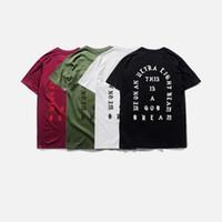 t shirt оптовых-Мода мужская футболка Season3 я чувствую, как Пабло тройник с коротким рукавом О-образным вырезом футболка Kanye West Письмо печати футболка