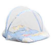 Venda Por Atacado - Bebê Infantil Portátil Folding Travel Bed Berço Netting Mosquito Tent Lace Cute Infant Newborn Bedding Net With Pillow