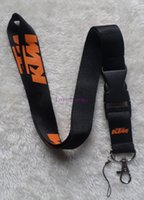 Wholesale Motorcycle Key Chains - Free shipping hot 10pcs lot KTM Motorcycle lanyards mobile phone neck key chains straps accessory