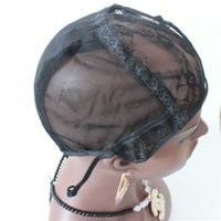 Wholesale Wholesale Wigs U Part Cap - In Stock best quality U Part Wig Caps 5pc lot Full Cap For Making Wigs Stretch Lace With Adjustable Straps Back Weave Cap