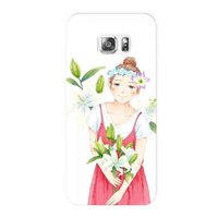 Wholesale Princess Plastic Materials - for samsung pc case s5 s6s s7 Princess animation pattern for Galaxy s7edge case pc Pc material phone shell hard shell