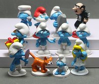 Wholesale Doll Figurine Wholesale - the Smurf Smurfs PVC Action Figures 12 styles Anime figurine doll Papa Smufette Gargamel Artz Cat Toy Christmas Gifts for kids