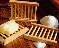 ingrosso scatole di sapone di legno-Fashional Bathroom Soap Tray Contenitore di piatti in legno fatti a mano in legno Piatti di sapone come accessori per la casa