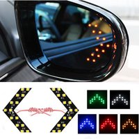 1Pair LED Arrow Luz de Sinal de Viragem 5Colors Escondendo Estilo Car LED Side Mirror Luz de Guia LED Luz de Sinal de Volta Luz