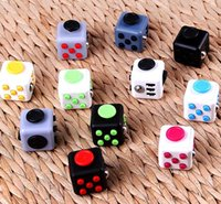 Wholesale 11 Colors Magic Fidget cube the world s first American Anti anxiety Decompression Toy Adults Stress Relief Kids Toy Magic Cube