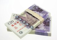 Wholesale Uk Money - 100PCS UK Pound GDP £20 Movie Props Money Bank Staff Training Collect Learning Banknotes New Arts Collectible Gifts Home Decoration Crafts