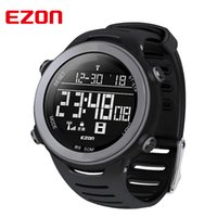 Wholesale Ezon Watches - Wholesale- EZON Multi-functional Sport Watch Men Watches Top Brand Outdoor Running Sport Watches for Men 5ATM Waterproof Male Wristwatch