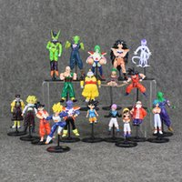 bolas de dragão colecionáveis venda por atacado-2 Estilos 10 pçs / set Anime Dragon ball GOKU Piccolo PVC Action Figure Collectable Modelo Toy para crianças presente frete grátis de varejo