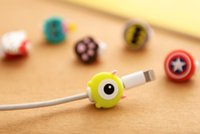 Wholesale Cute Cable Winder - Cute Lovely Cartoon Long Cable Protector USB Cable Winder Cover Case Shell For IPhone 6 6s 7s plus Samsung cable Protect