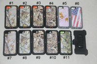 Wholesale Iphone Camo Case Clip - Camo Hybrid Armor defender case with Back clip for iphone 5S 6 6S 7 Plus 7plus Samsung Galaxy S6 edge S7 S8 Plus phone cases Retail Package