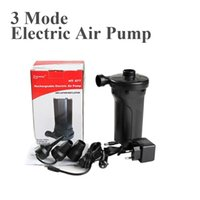 Wholesale Battery Powered Air Pump - Wholesale- 3 way AC DC power electrical battery rechargable inflation air pump for inflatable air mattress boat inflatable toy outdoor