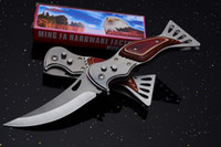Wholesale ak47 wholesale - B368 AK47 Tactical Folding Knife 3Cr13 56HRC Flipper Outdoor Hunting Survival Pocket Knife Utility Clip EDC Tool Retail Package Collection