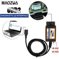 Wholesale ms cans online - 2017 Newest ELM327 MZ327 USB V1 modified switch for Ford ELMconfig FTDI chip HS CAN MS CAN open hidden