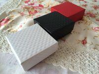 Wholesale Wholesale Customized Jewelry - Princess European wholesale jewelry box red stone jewelry ring necklace box of customized packing box 7 * 7