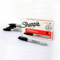 Wholesale Magic Sharpie - Wholesale- 1box =12pcs sharpie pen ( normal pen ) Magic Tricks Marker Pen ( black ) magician professional close-up street magic prop 81205