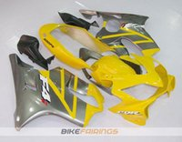 Wholesale Gray F4i Fairings - New 100% Fit Injection molding for HONDA CBR 600 F4i fairings 2004 2005 2006 2007 CBR600 F4i bodyworks 04 05 06 07 hot style yellow gray