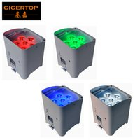 Wholesale American Dj Uv - TIPTOP 4XLOT White Shell 6 6W RGBWA UV 6IN1 Battery Wireless Led Par Light DMX 6 10CH American Dj Freedom 6 Color Led Par Cans Wedding Party