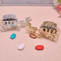 Wholesale Horse Wedding Carriage - Horse shape Cinderella Carriage Wedding Favor Boxes Candy Box Casamento Wedding Favors And Gifts Decoration ZA1876