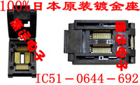 Wholesale Programmer Ic Adapters - 100% NEW IC51-0644 TQFP64 QFP64 LQFP64 IC Test Socket   Programmer Adapter   Burn-in Socket ( IC51-0644-692)0.8MM