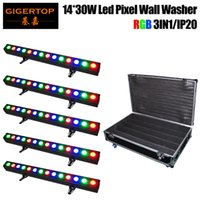 Wholesale Disco Light Wall - Wholesales Price 5in1 Roadcase Pack LED Wall Washer 14x30W COB RGB 3IN1 DJ Club Disco Bar DMX Light 100cm Length Aluminum house TP-WP1430B