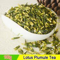 ingrosso semi di loto liberi-Di alta qualità tè semi di loto piuma di nucleo 100 grammi di nucleo di semi di loto schiarimento cuore fuoco salute, consegna gratuita