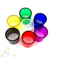tanque para ijust al por mayor-Mejor iJust S Tubo de vidrio Pyrex Reemplazo Tubo de manga de vidrio Capacidad 4ML para iSmoka iJust S Tank Atomizers DHL Free