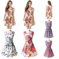 Wholesale Girls Fashion Clothing China - Fashion Women Casual Dress Sleeveless Floral Chiffon Plus Size Cheap China Dress 25 Designs Women Girls Clothing Summe Dress 2017 New Arriva