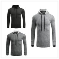 Wholesale White Hooded Cardigan Sweater - Boutique clothing 2017 autumn new UA fitness sweater Under running long sleeves thin warm dry jacket Hooded cardigan sport coat Free Deliver