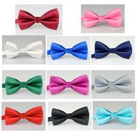 Wholesale the latest men s bow tie high grade imitation silk fabric groom groom married solid color bow tie DB05