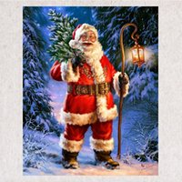 Wholesale Craft Santa - Santa Claus DIY Diamond Painting Embroidery 5D Beauty Cross Stitch Crystal Square Unfinish Home Bedroom Wall Art Decor Craft Gift