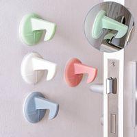 Wholesale Buffer Lock - Mute Wall Pad Anti-collision Crash Pad Doorknob Lock Protective Pad Crash Pads Door Buffer Color Random