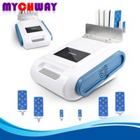 Wholesale Newest Burning Laser - Newest 160mw LLLT Slimming 635nm ~ 650nm Lipo Laser Fat Burning Removal Beauty Machine With 4 Big+2 Small Pads