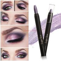 Wholesale Wholesale Jumbo Glitter Pens - Wholesale- Sugar Box Jumbo Eye Pencil Eyeshadow Pen Glam Shadow Stick 10 Colors Optional