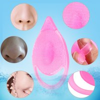 Wholesale Scrub Sponge Pad - Blackhead Washing Remover Face Clean Nose Brush Pore Cleaner Skin Care Tools Cleaning Pad Wash Face Exfoliating SPA Skin Scrub