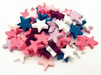 Wholesale Necklace Pendant Loose Beads - 50PCS Food Grade Silicone Star Teething Beads 30mm Baby DIY Teether Necklace Pendant Bracelet Loose Beads Chewable Nursing Jewelry